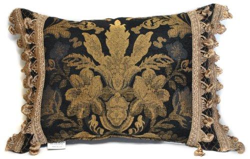 Austin Horn Classics Lismore Boudoir Pillow, Black