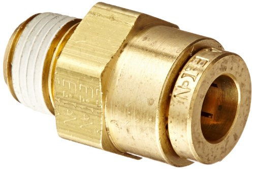Eaton Weatherhead 1868X4 Brass CA360 D.O.T. Air Brake Tube Fitting, Male Connector, 1/8