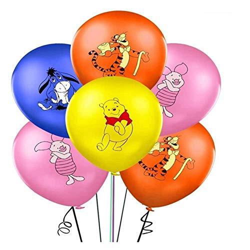 Globo de Papel de Aluminio 10 / 20pcs Winnie The Pooh 12inch Latex Globo Animal Mascota Decoración de la Fiesta de cumpleaños Balloon Niños Juguetes Globo (Color : Color Mixing, Shape : 10pcs)