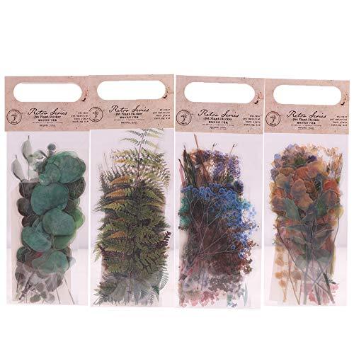 Lychii Scrapbooking Sticker, dekorative Selbstklebende Aufkleber Set mit natürlichen Pflanzenmuster, PET Material Sticker Set für Laptop-Computer, Tagebuch, Album Kalender Planer DIY