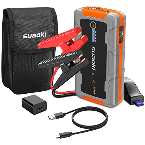 SUAOKI E92 1200A Jump Starter (Up to 8L Gas & 6L Diesel Engine) 15000mAh Portable Car Battery Booster for...
