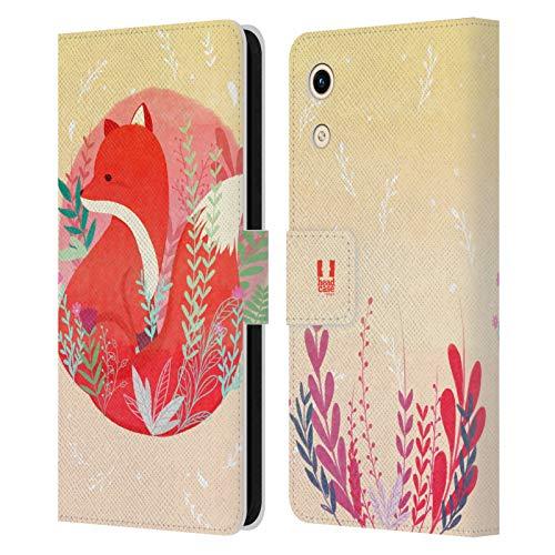 Head Hülle Designs Fuchs Tiere des Waldes Leder Brieftaschen Huelle kompatibel mit Huawei Honor Play 8A