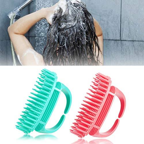 Lespar Kopfhaut Massage Bürste, Silikon Kopfhaut Massager,Kopfhaut Massagebürste für Haarwuchs Handheld Silikon Dusche Wasserdicht