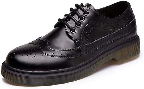 ZHRUI zapatos mujer Flats Spring mujer Oxford (Color   negro, tamaño   4 UK)