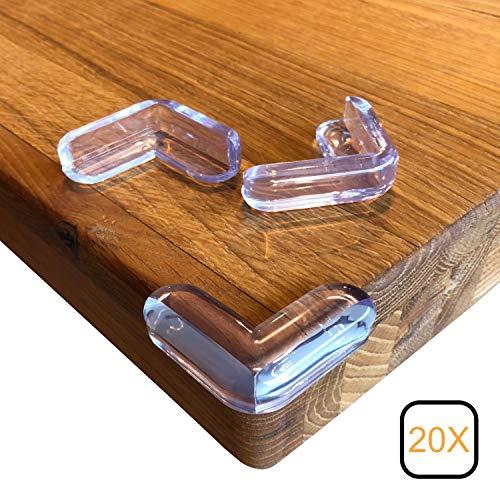 20 x Eckenschutz Tischkanten Schutz Kantenschutz Kindersicherung transparent