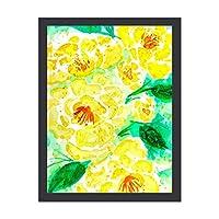 INOV 黄色 水彩バラ ギャラリーラップ アートパネル インテリアパネル 絵画 壁 ポスター フレーム 壁掛け インテリア 雑貨 玄関 プレゼント 贈り物 お祝い 新生活