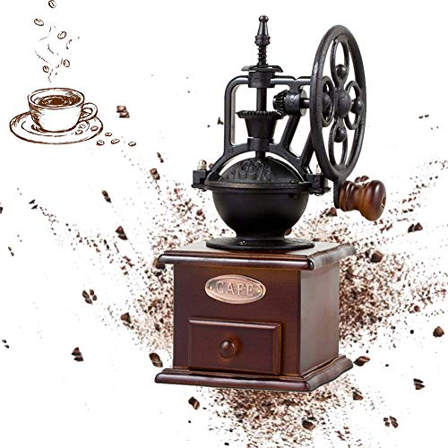 Kaffeemühle Retro,Kaffeemühle Hölzern, Kaffee Puder Manuell Holz Hand Kaffeemühlen Kaffeebohne...