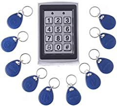 Dolity RFID ID Keyfob Password Door Access Control Machine Home Security System Set