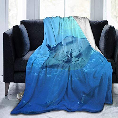ARRISLIFE Manta Ray Decke werfen Ultra-Soft Micro Fleece Decke Warm Decke for Bed Sofa Decke