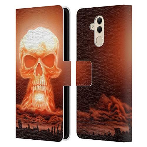 Head Case Designs Licenza Ufficiale Rainer Kalwitz Bomba Nucleare Crani Cover in Pelle a Portafoglio Compatibile con Huawei Mate 20 Lite
