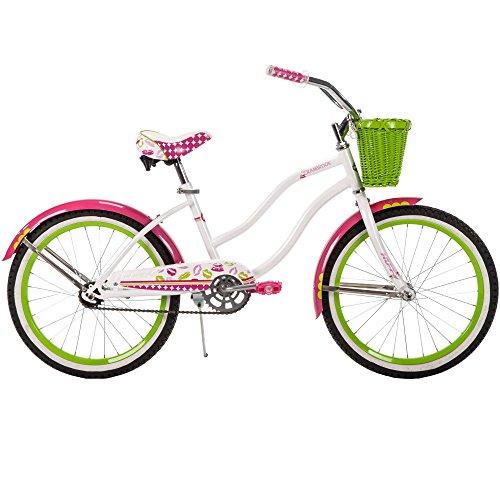 2034; Huffy Girls39; Cranbrook Cruiser Bike, White, Wicker Basket