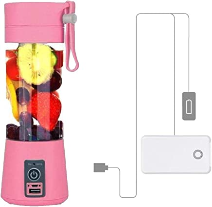 Vmoni Portable USB Juicer Blender 380 ml Bottle with USB Charging Cable (Assorted Color)