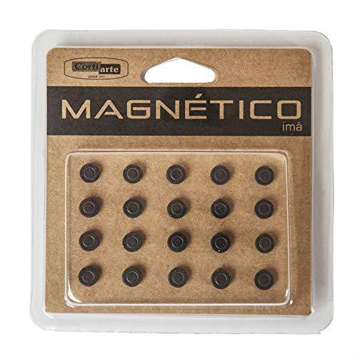 Imã para Quadro Magnético Grafite Redondo 8mm Cortiarte