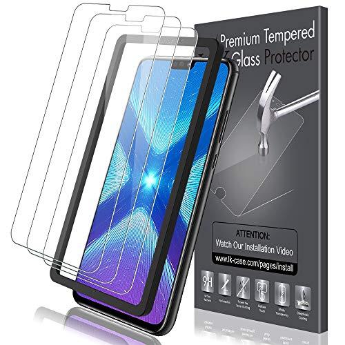 LK Compatibile con Huawei Honor View 10 Lite/Honor 8X Pellicola Protettiva, 3 Pezzi, 9H Durezza Vetro Temperato,Strumento Una Facile Installazione, Protezione Schermo Screen Protector