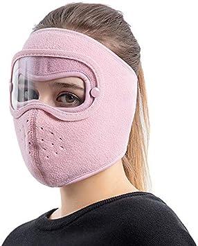 anti-poussi/ère Fxhan Masque de protection du visage avec lunettes amovibles et anti-bu/ée