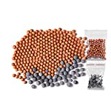 Filtration Stone Bead Balls for Filter Shower Head - Filtered Mineral Stone Beads for Purifying Water (Red & Gray)