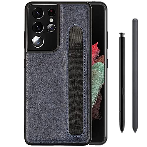 Gogobuy - Custodia protettiva per Samsung Galaxy S21 Ultra S, sottile e sottile, in pelle PU, antiurto, per Samsung Galaxy S21 Ultra 5G da 6,8', colore: Blu