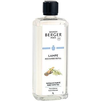 Pure White Tea - Lampe Berger Fragrance Refill for Home Fragrance Oil Diffuser - 33.8 Fluid Ounces - 1 Liter