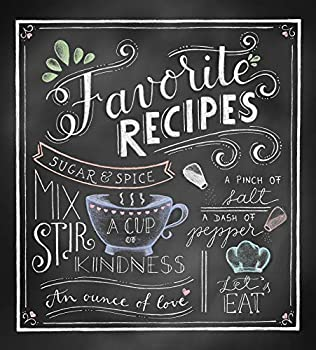 Deluxe Recipe Binder - Favorite Recipes  Chalkboard