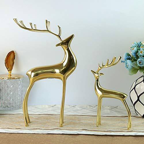 ZHQHYQHHX Decoraciones para el hogar, decoración del hogar, acentos de salón, artículos de vino, adornos de metal, artesanías, creativos, regalo de inauguración de la casa, 2 unidades