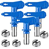 Reversible Spray Tip Nozzles Paint Spray Tips Airless Sprayer Nozzles Airless Sprayer Spraying Machine Parts in Blue for Homes Buildings Decks or Fences(5 Pieces,211, 313, 415, 517, 623)