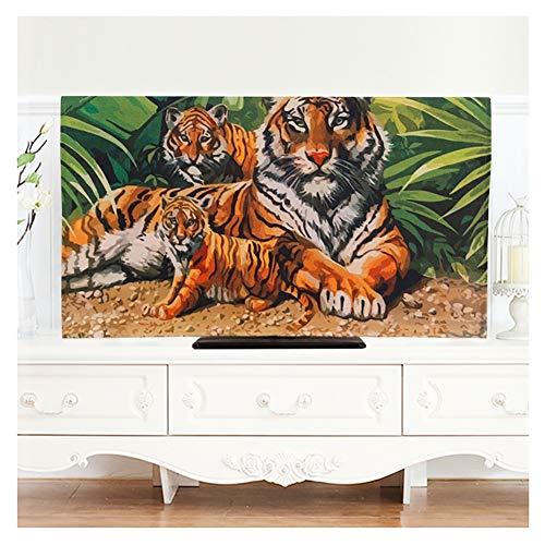 YMYP08 Europese TV-cover, olieverfschilderij TV-stofbescherming interieurdecoratie, 32-75 inch LCD/gebogen TV beschermhoes, desktop-tv/hanging TV Universal (kleur: J, maat: 37 in)
