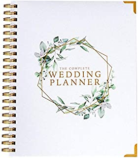 Wedding Planner & Organizer - Floral Gold Edition - Diary Engagement Gift Book & Calendar