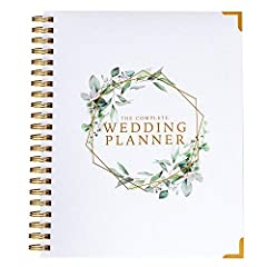 WEDDING PLANNER & ORGANIZER ⭐️132 page quality wedding planning book, the perfect companion to help you plan Your Perfect Day. Unlike other planners on Amazon this has been designed for American weddings, with lots of helpful pointers, wedding planni...