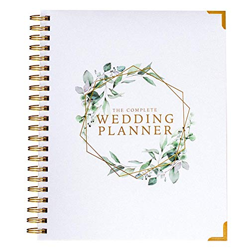 Product Image 1: Wedding Planner & Organizer – Floral Gold Edition – Diary Engagement Gift Book & Calendar