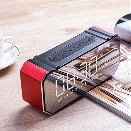 Klok Bureau Alarm Bluetooth Geluid Multifunctionele Draagbare Subwoofer Groot Display Alarm Eenvoudig Ontwerp Mode