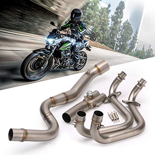 HKIASQ Modifiziertes Auspuffrohr, Motorradmitte, Komplettes Auspuffsystem Für Kawasaki Z250 Ninja Z300 250 Mit Sensor
