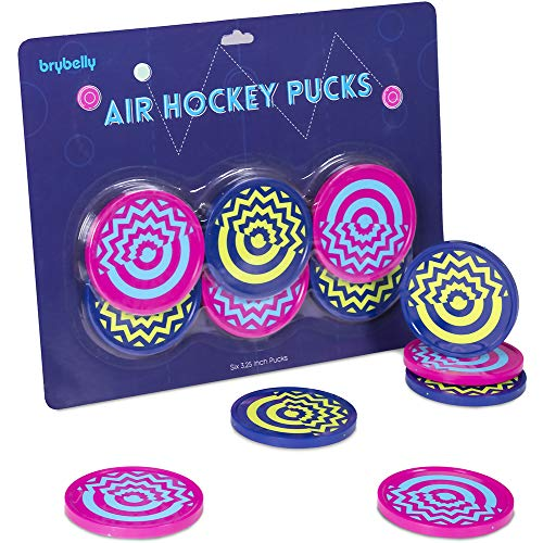 Vivid Two-tone Air Hockey Pucks (6-pack)...