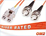 80M OM2 LC ST Fiber Patch Cable | Duplex 50/125 LC...