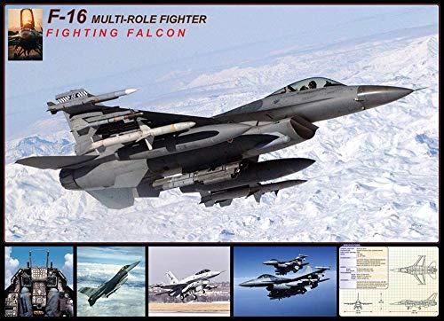 XiuTaiLtd F-16 Fighting Falcon Puzzle 1000 Stück, Freunde