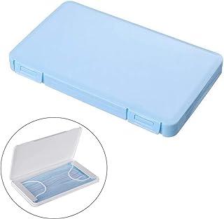 Uhat Conteneur de Masques Porte Masques Boîte de Hygiène Filtre Boîte de Rangement (Masque Non Inclus) (Bleu)