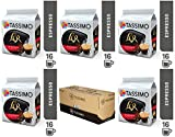 Tassimo L'Or Espresso Splendente, Coffee, Coffee Capsule, Ground Roasted Coffee, 16 T-Discs 5 Pack 80 Cups