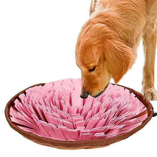 IEUUMLER Schnüffelteppich Riechen Trainieren Matte Geruchsempfindung Trainieren Matte Für Hunde Und Katzen IE112 (Pink)