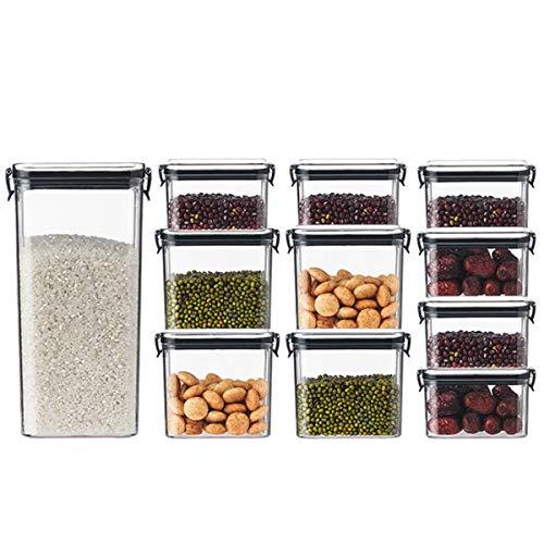 KAILUN 11Pcs Botes Legumbres Cocina, Recipientes De Botes Cocina Almacenaje De Alimentos Hermético Etiquetas Y Rotulador para Comidas/Legumbres/Pasta/Cacao