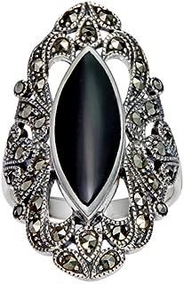 black filigree ring