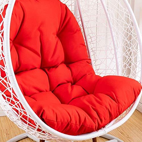 Colgando huevo Hamaca Silla Nido cojines de asiento acolchado extraíble impermeable Sin 95x125cm oscilación del soporte del asiento de ratón del jardín del patio-naranja (37x49inch), Tamaño: 95x125cm