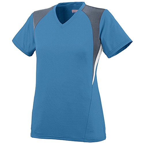 Augusta Sportswear Women's 1295, Columbia Blue/Graphite/White, Small