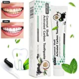 Fullfun Coconut Shell Activated Charcoal Teeth Whitening Toothpaste, Mint Flavor