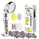 WinArrow - Soffione da doccia, ionico, con vitamina C, elimina cloro, 200% di soffione per...
