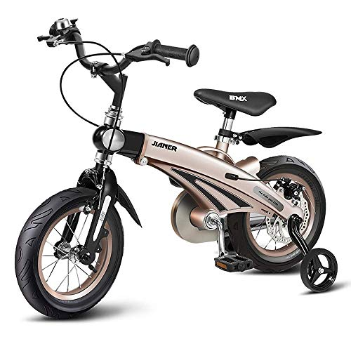 Best Price! QiYue Freestyle Kid's Bike for Boys and Girls, 12 14 16 Inch with Training Wheels, wit...