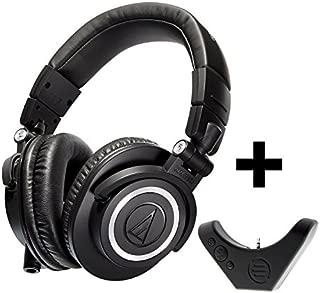 Audio Technica ATH-M50x Professional Studio Monitor Headphones with Bluetooth Adapter, Black