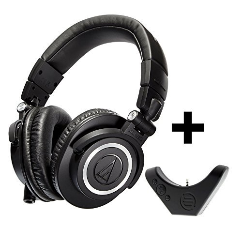 Audio-Technica ATH M50x Professional Studio Headphone with BAL M50x Bluetooth Adapter for Wired & Wireless Headphones