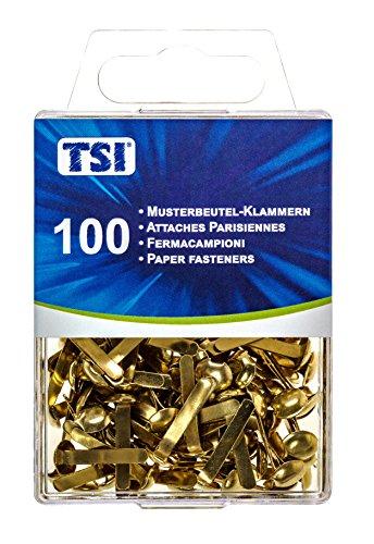 TSI 48349 Musterbeutelklammern, 100er Packung