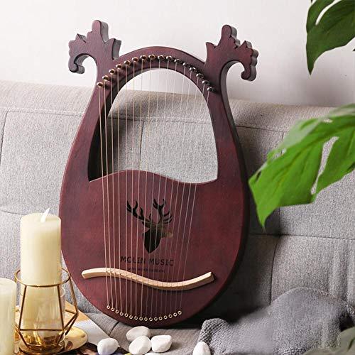 Lyra-Harfen-Set mit 16 Noten , Hard Mahogany Hard Portable mit Stimmschlüssel Schwarz Aufbewahrungstasche Harfen-Set , Hölzerne Musikinstrument-Lyra-Harfe