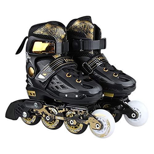 Herren Damen Inliner Inlineskates Dasongff Klassische Retro Rollschuhe Kinder/Erwachsene Rollerskates Rollschuhe mit PU Verschleißfeste Roller Skates Größe 37-44