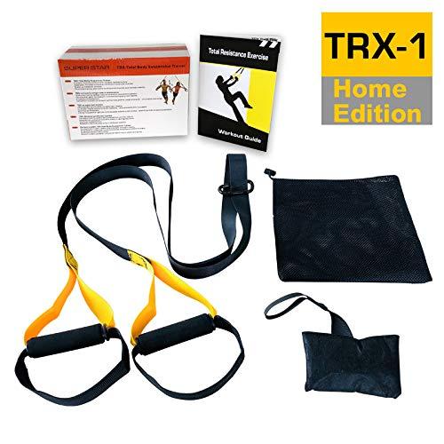 Cinturón de entrenamiento de suspensión Cuerda de tensión Entrenamiento de yoga Cuerda de tracción elástica Entrenador muscular Equipo de ejercicios para hacer ejercicio en el gimnasio en casa